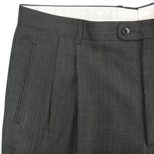 Zanella Duncan Wool Pleat Front Dress Pants 38x28
